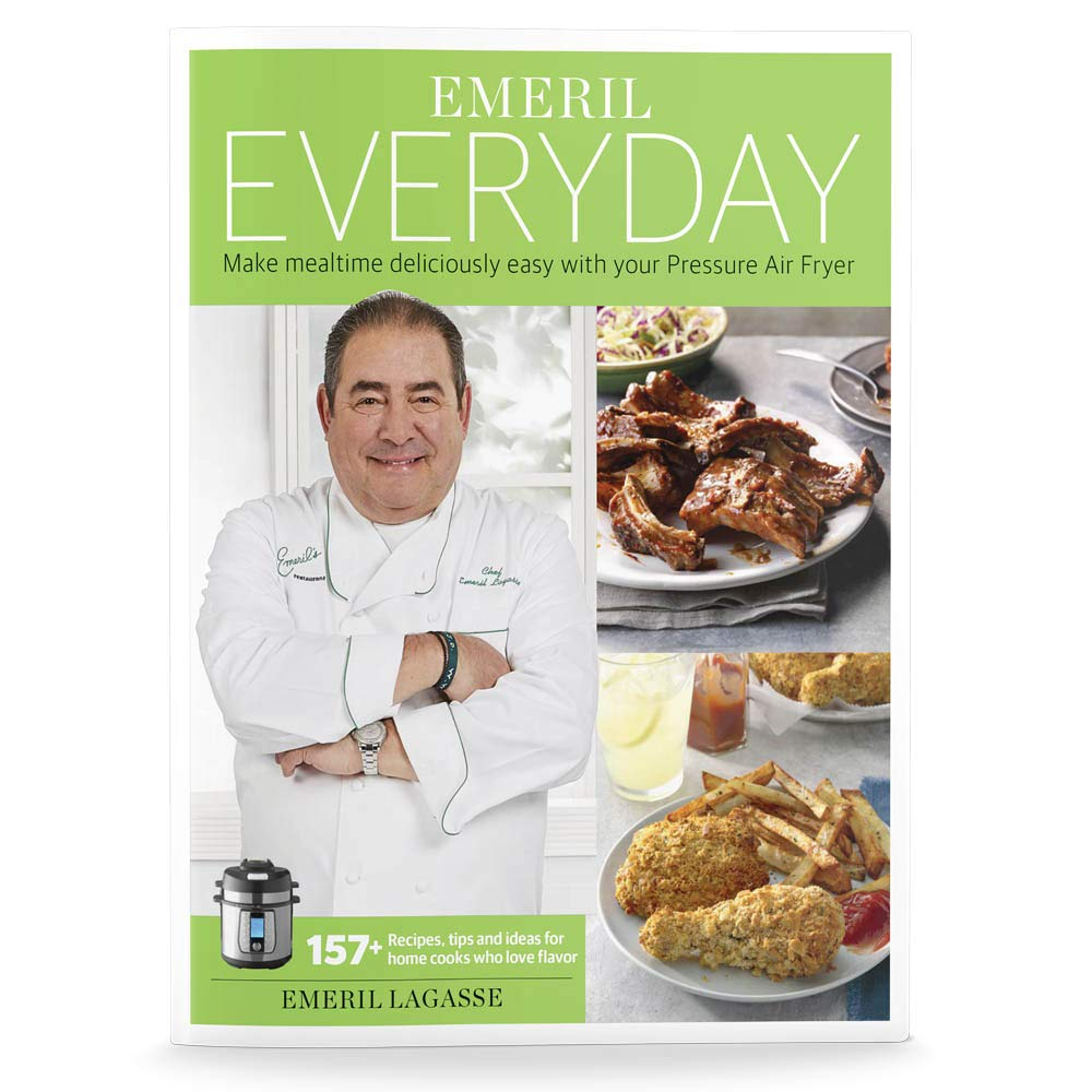 Emeril Lagasse Pressure Cooker & Air Fryer Cookbook with 10+