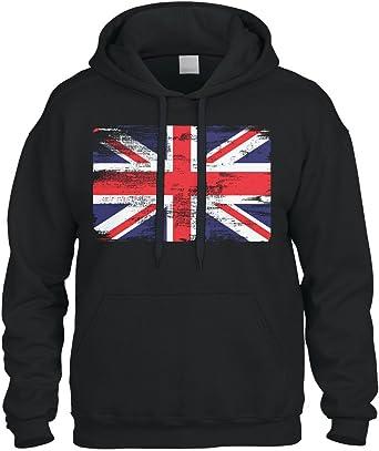 sudaderas de Inglaterra con la bandera brit/ánica Sudaderas con capucha de Londres Souvenirs con logotipo de pelo para mujer