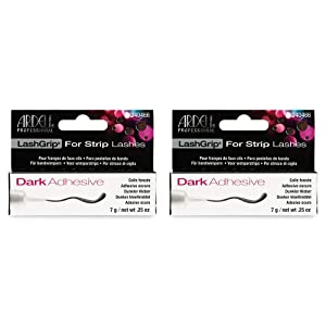 Ardell Lashgrip Strip False Lash Adhesive, Dark, 7g/ 0.25oz x 2 pack