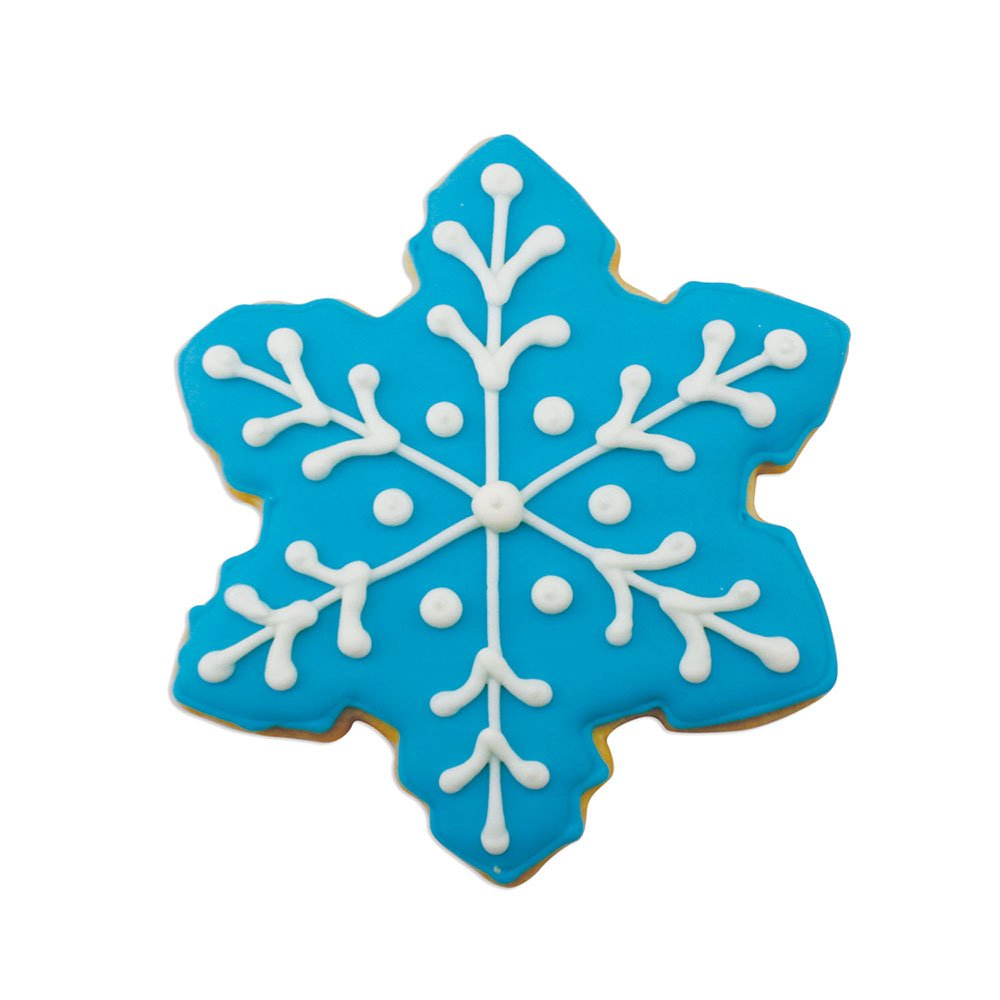 Snowflake Cookie Cutters - 5 Piece Boxed Set - 2 1/2'', 3 1/2'', 4'', 4 1/4'', 4 1/2'' - Ann Clark - US Tin Plated Steel by Ann Clark Cookie Cutters (Image #3)