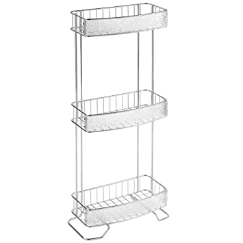Captivating InterDesign Rain Free Standing Bathroom Storage Shelves For Towels, Soap,  Candles, Tissues,