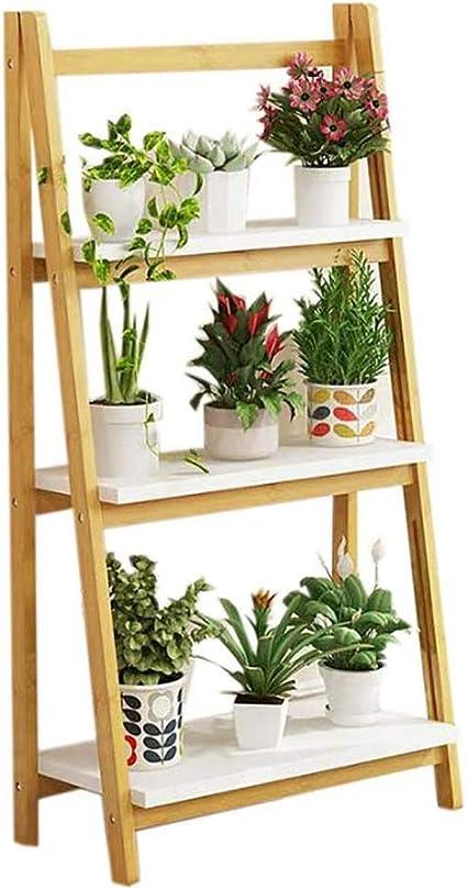 W-HUAJIA Mediados De Siglo Soporte for Plantas,Interior ...