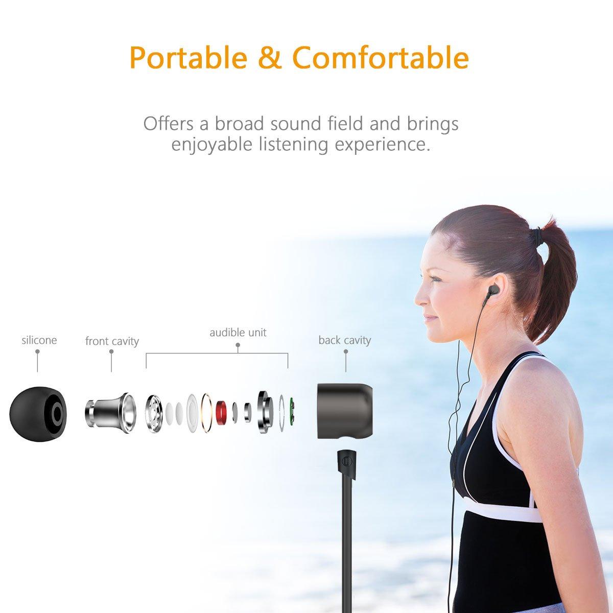 Smartphone Android Tablet ECC Doosl Auricolari in Ear Cuffie Audio di Alta qualit/à Stereo Universale con Microfono per iPhone
