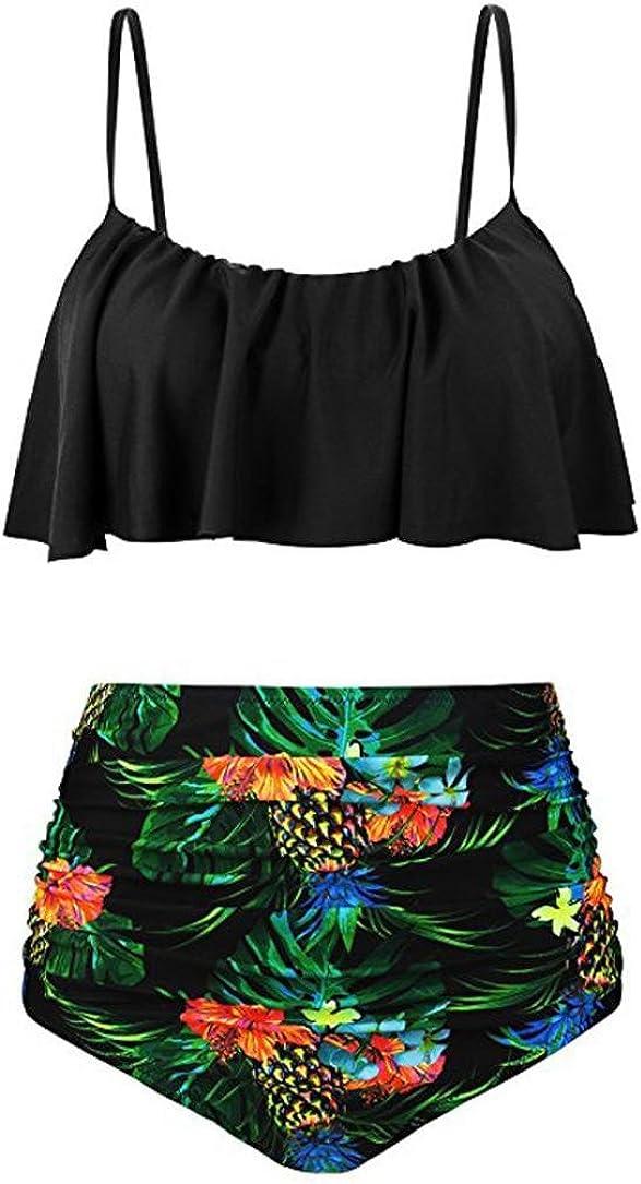 SANFASHION /Ét/é Maillots de Bain Femme Classique Vintage Point donde R/étro Bikinis 2 Pi/èces Amincissante Plage
