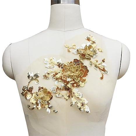 Bordado de flores tridimensionales,Starter Juego de parches florales bordados para hacer manualidades, accesorios