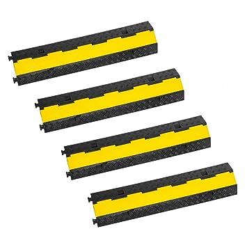 2 X 1 Kanal Kabelbrücke Gelb Überfahrrampe Kabelkanal Überfahrschutz Kabelschutz Musikinstrumente Sonstige
