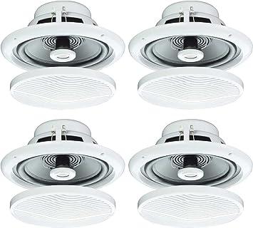 4 X 12 7 Cm 80 W Feuchtigkeitsbestandig Decke Lautsprecher Fur Badezimmer Oder Kuche B402 B Amazon De Audio Hifi
