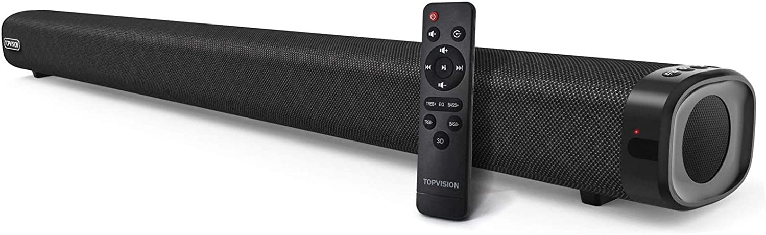 TOPVISION Stereo Sound Bar with Built-in Subwoofer