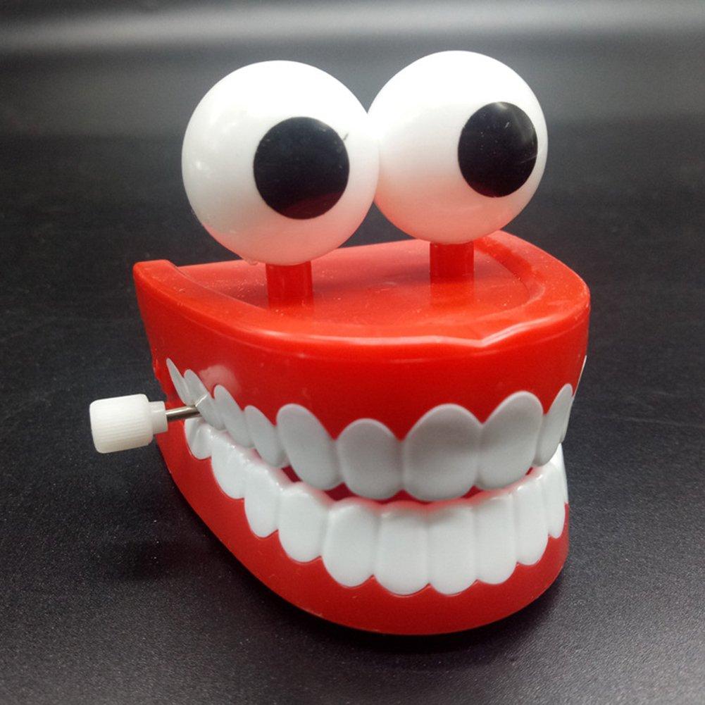 Qiyun Teeth Toy Children Kids Wind Up Jump Teeth Toy Dental Educational Clockwork Toys Christmas Giftstyle:Jumping teeth