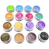 SUPVOX 16pcs Mica Powder Mineral Makeup Pigments Eyeshadow Makeup Nail Art Body Hair Soap Making Lotion Random color