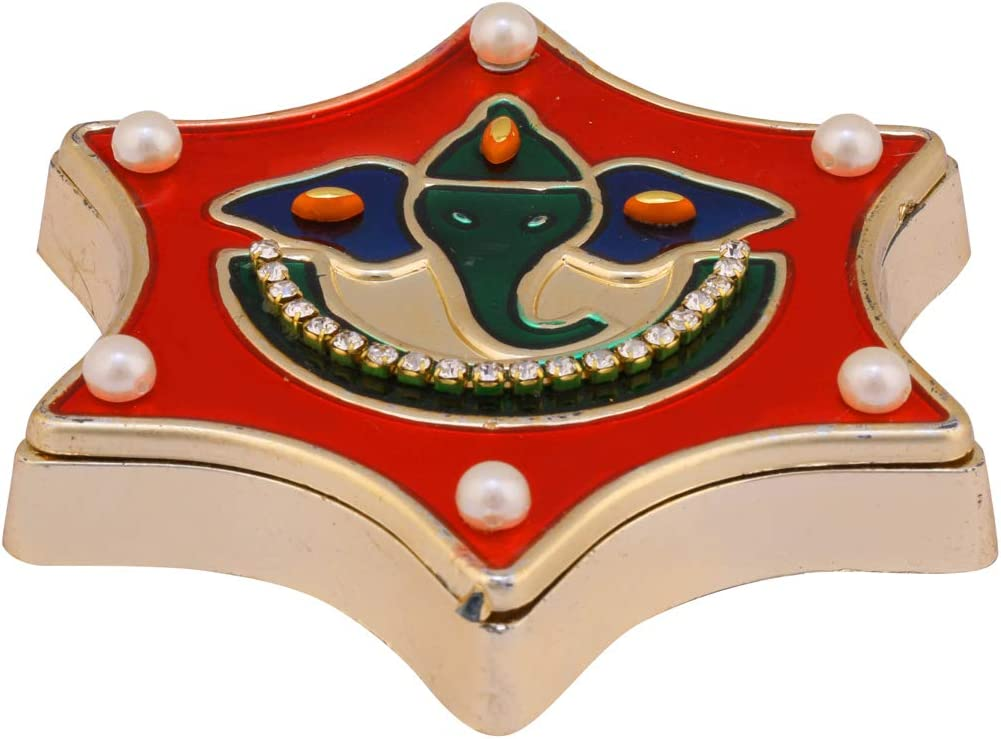 Aditri Creation Diwali Pooja puja Item Decoration Decorative Gift Return Gift Kumkum Roli Haldi Chandan Chawal Akshat Dibbi Box Holder Kankavati