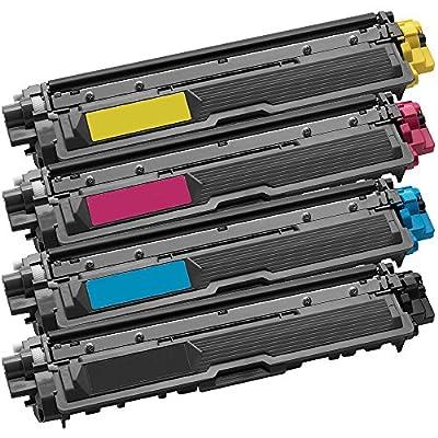 1 Set of 4 Inkfirst® Toner Cartridges TN221BK, TN225C, TN225M, TN225Y Compatible Remanufactured for Brother TN221 TN225 Black, Cyan, Magenta, Yellow