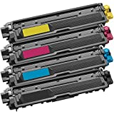 1 Set of 4 Inkfirst Toner Cartridges Compatible Remanufactured for Brother TN221 TN225 Black, Cyan, Magenta, Yellow MFC-9340CDW HL-3170CDW HL-3170CW HL-3140CW MFC-9130CW MFC-9330CDW TN221BK TN225C TN225M TN225Y