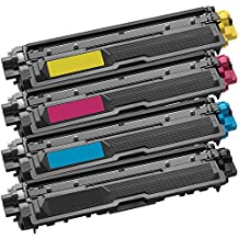 1 Set of 4 Inkfirst® Toner Cartridges TN221BK, TN221C TN225C, TN221M TN225M, TN221Y TN225Y Compatible Remanufactured for Brother TN221 TN225 Black, Cyan, Magenta, Yellow MFC-9130CW MFC-9330CDW MFC-9340CDW HL-3170CDW HL-3170CW HL-3140CW