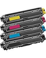 1 Set of 4 Inkfirst® Toner Cartridges Compatible Remanufactured for Brother TN221 TN225 Black, Cyan, Magenta, Yellow MFC-9340CDW HL-3170CDW HL-3170CW HL-3140CW MFC-9130CW MFC-9330CDW TN221BK TN225C TN225M TN225Y