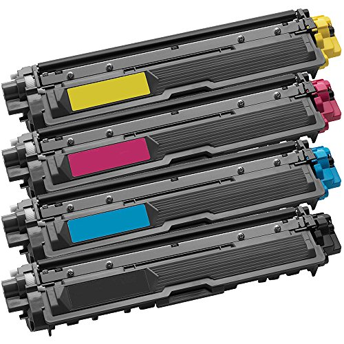 1 Set of 4 Inkfirst® Toner Cartridges TN221BK, TN225C, TN225M, TN225Y Compatible Remanufactured for Brother TN221 TN225 Black, Cyan, Magenta, Yellow