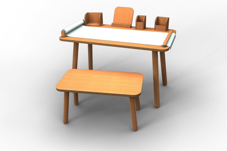 Komplett SET  Grüng table  Kindertisch + Sitzbank + alle Tools von Pure Position - Buche natur