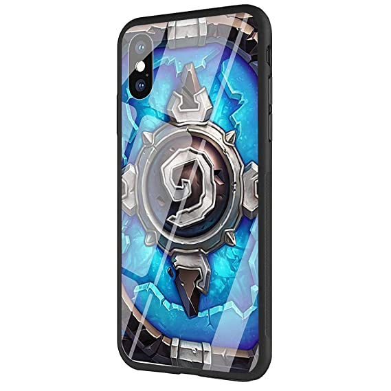 competitive price afe5a 08b26 Amazon.com: DAVIDLING Phone Case iPhone X/XS, Tempered Glass Back ...