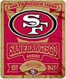 "NFL San Francisco 49ers Marque Printed Fleece Throw, 50"" x 60"""