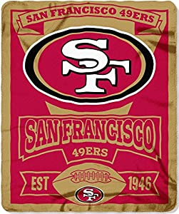 NFL San Francisco 49ers Marque Printed Fleece Throw, 50
