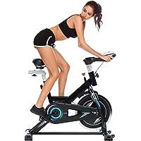ANCHEER Bicicleta de Spinning Bici estática Indoor de Volante de Inercia de 22kg/10kg Bicicletas de Ejercicio App…