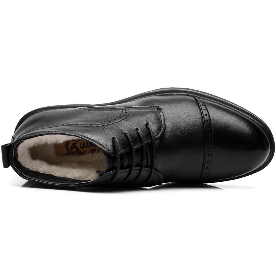 Herren Herren Herren Winter Plus Kaschmir Formelle Kleidung Lederschuhe Warm halten Stiefel Werkzeug Schuhe Dicker Boden Schuhe erhöhen Geschäft EUR GRÖSSE 39-44 c55e3c