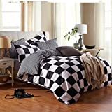 YIweNi Active printing bedding 4 piece set, life is like a chess game, the small 3-piece set