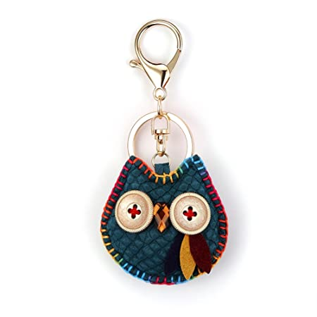 Owl Key Ring Chain, Nikang Handmade Leather Key Holder Metal Chain Charm Without Tassels Handbag Accessories, Purse Pendant, Fashion Item, Car Key ...