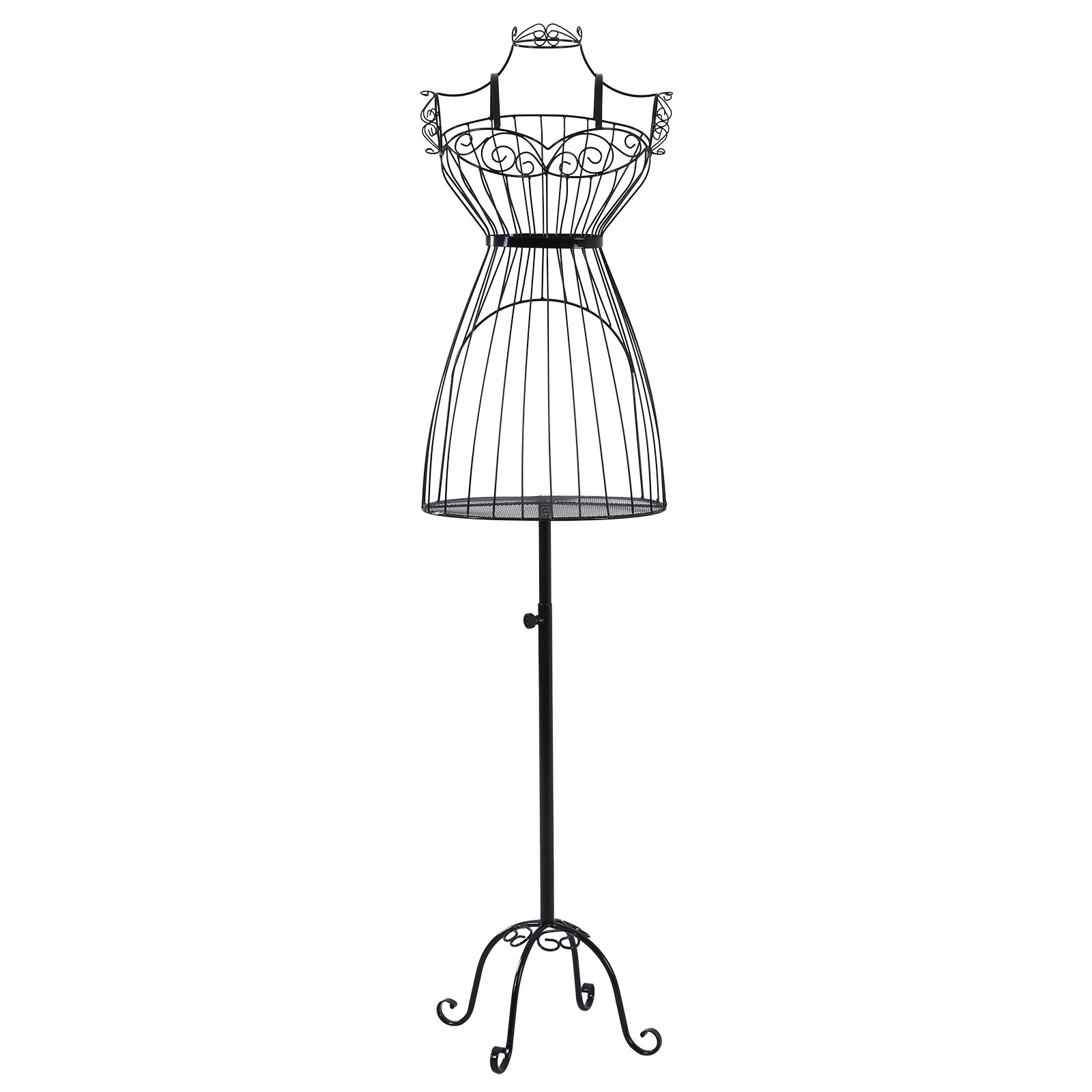 SONGMICS Busto de señora para Costura Maniquí de exposición metálico HRA09B product image