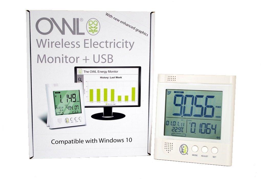 OWL CM Medidor de consumo eléctrico con USB inalámbrico