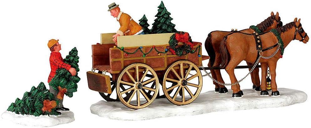 Lemax Limited Christmas Village Accessory Christmas Tree Wagon
