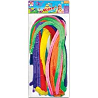 Anker Kids Create Arts and Crafts Jumbo Pipe Cleaners, Plastic, Assorted Colour, 18-Piece