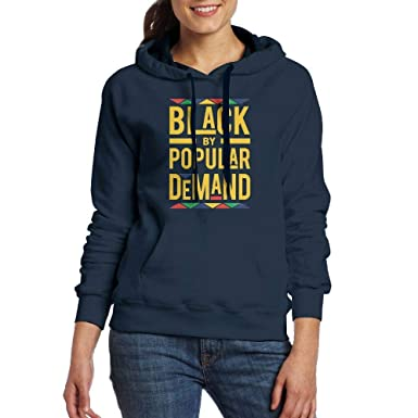 5c6d9bf5a3161 Amazon.com: slquaer Black by Popular Demand Hooded Sweatshirt Hoodie with  Pocket for Women: Clothing