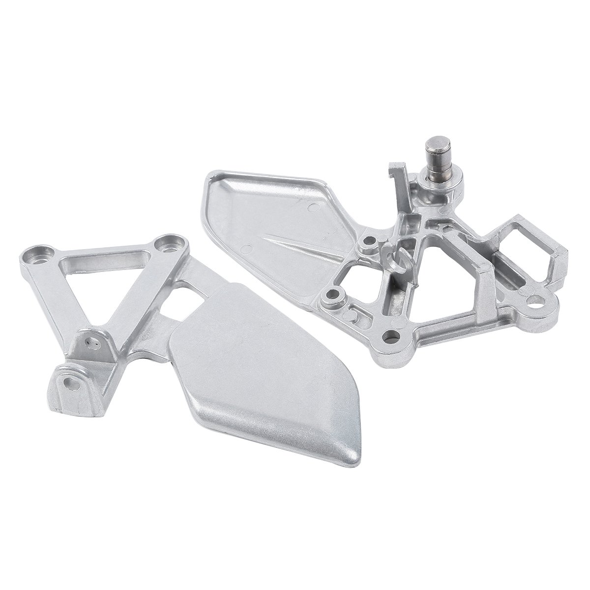 XMT-MOTO Silver Front Rider Foot Rest Peg Bracket For HONDA CBR250 MC19 1988-1989