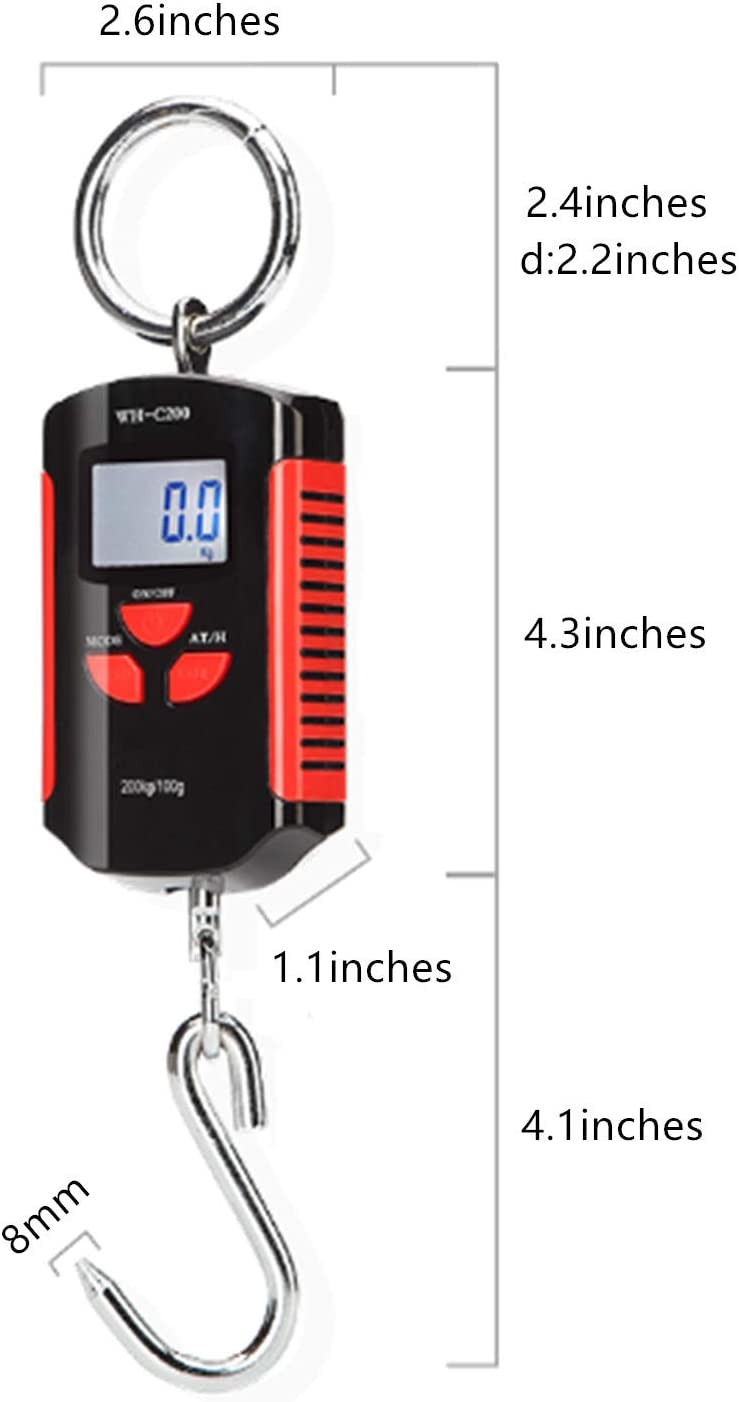 Klau Portable 200 kg 400 lb Heavy Duty Digital Fish Scale