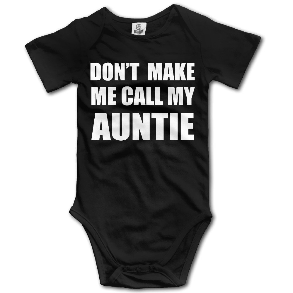 Infant Baby Clothes DON'T MAKE ME CALL MY AUNTIE Short Sleeve Romper Jumpsuit Bodysuit