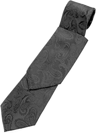 New Brand Q Men/'s Micro Fiber Neck Tie /& Hankie Set Flowers Gray Black
