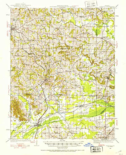 YellowMaps Dongola IL topo map, 1:62500 Scale, 15 X 15 Minute, Historical, 1920, Updated 1953, 20.7 x 16.9 in - Polypropylene