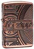 Personalized Message Engraved Customized Gift For Him For Her Armor Antique Copper Multicut Zippo Indoor Outdoor Windproof Lighter