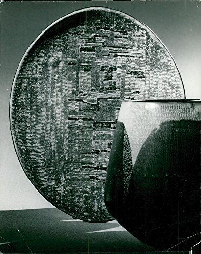 Vintage photo of A vase formed by the iceberg clay of Ingrid Atterberg
