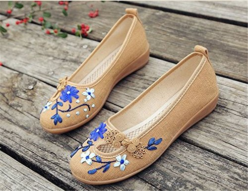 Shoes Women Beige Ballet on SUNNY Store Flats Slip Classic O7fHq