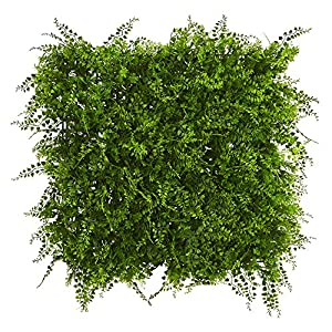 "Nearly Natural Lush Mediterranean Artificial Fern Wall Panel 20"" x 20"" 29"