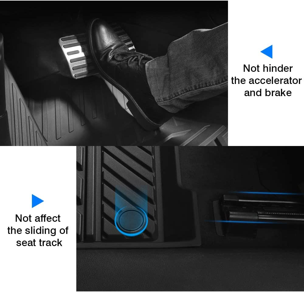 Mixsuper 2020 TPE Floor Mat Custom Fit for Tesla Model Y 2020 All Weather Heavy Duty Durable Odorless Carpet Liner Set