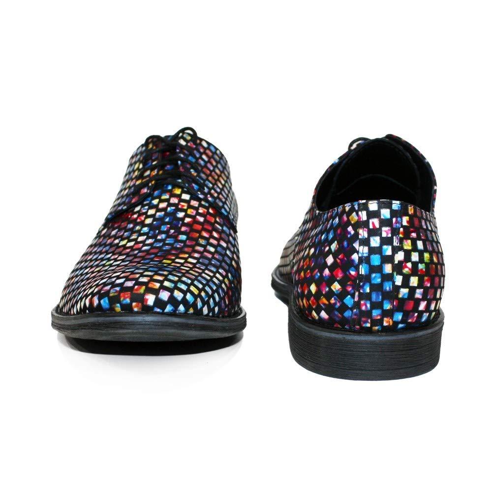 Modello Discoteca - Cuero Italiano Hecho A Mano Hombre Piel Vistoso Zapatos Vestir Oxfords - Cuero Cuero Suave - Encaje: Amazon.es: Zapatos y complementos