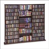 CD Rack - 1500 Veneer (Walnut) (63 3/4''H x 65 5/6''W x 9 1/2''D)
