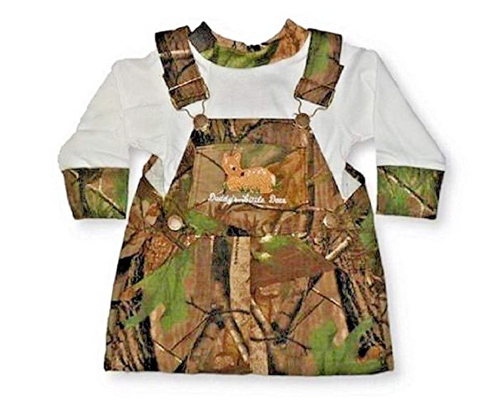 4e211c4ab8bb Amazon.com  Realtree Baby Girls Overall Skirt Set Daddy s Little ...