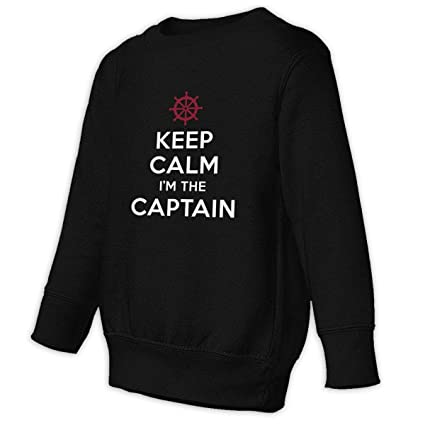 9885373df Amazon.com   GWCU Keep Calm I m The Captain Anchor 2-6T Baby Boys ...