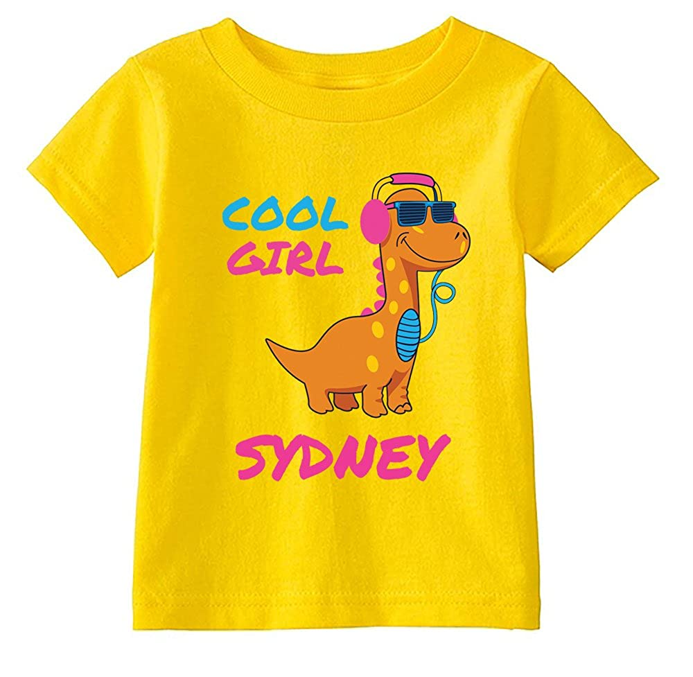 Custom Tees Custom Toddler Cool Girl T-Shirts Personalize with Name Wow