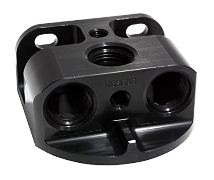 remote oil filter mount