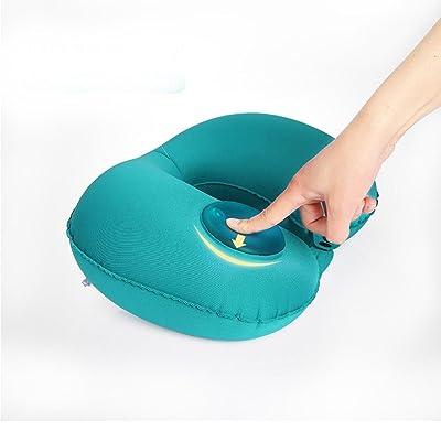 Ultralight gonflable de voyage / Camping oreillers - compressible, compact, gonflable, confortable, oreiller ergonomique pour le cou et soutien lombaire et une bonne nuit de sommeil pendant le camp, l